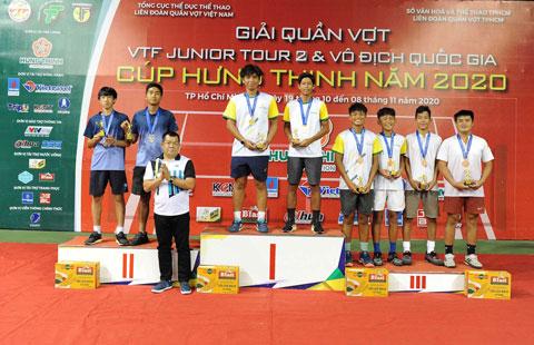 Tất Thái Nguyên/ Trần Tiến Thịnh (Hưng Thịnh – TPHCM) vô địch đôi nam U18