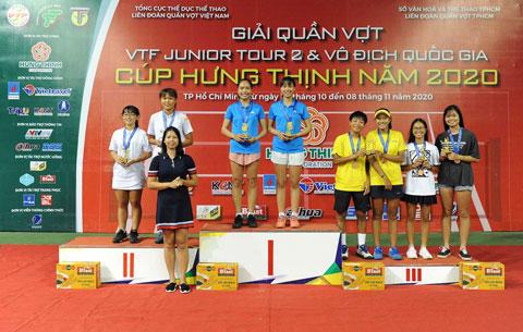 Lê Thị Đào/ Nguyễn Thị Hồng (Hải Dương) vô địch đôi nữ U18