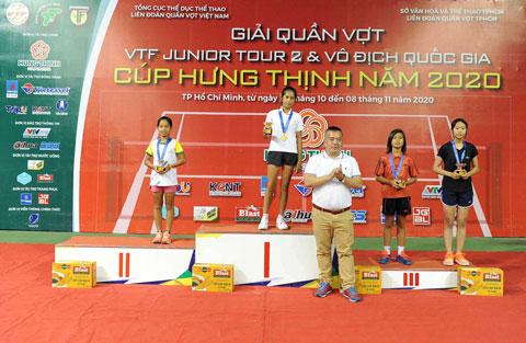 Khalil Bảo Châu Saleema (Hà Nội) vô địch đơn nữ U10