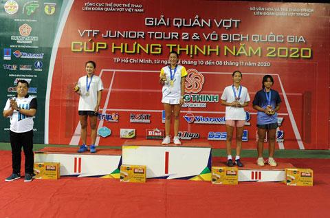 Sophia Huỳnh Trần Ngọc Nhi (Hưng Thịnh – TPHCM) vô địch đơn nữ U14