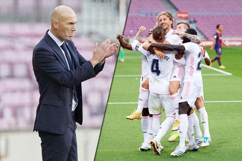 Zidane đã phần nào xua đi áp lực sau trận thắng Barca 3-1