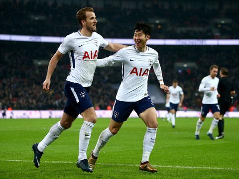 Harry Kane và Son Heung-min (phải) sắp trở thành cặp tấn công ăn ý nhất lịch sử Tottenham