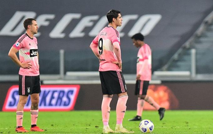 Juve vắng Ronaldo tiếp tục gây thất vọng