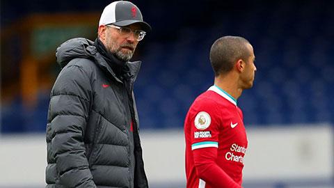 Liverpool vẫn mất Thiago và Keita ở trận gặp Midtjylland