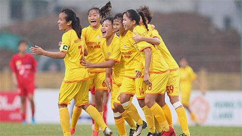Vòng 3 giải BĐ Nữ Vô địch U16 QG 2020: PP. Hà Nam và Dự tuyển U16 duy trì vị trí xếp hạng