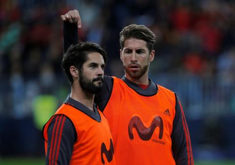 Isco và Ramos được cho là đã có va chạm với nhau sau trận El Clasico