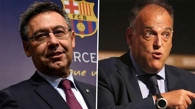 Chủ tịch La Liga chỉ trích Bartomeu