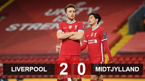Kết quả Liverpool 2-0 Midtjylland: The Kop độc chiếm ngôi đầu bảng D