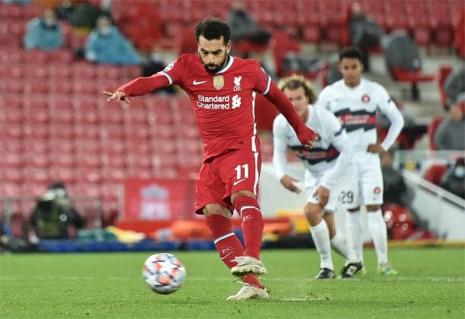 Salah ấn định chiến thắng 2-0 cho đội chủ nhà