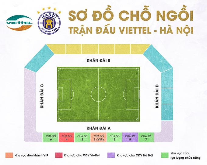 Trận Viettel - Hà Nội không bán vé, không mở cửa tự do