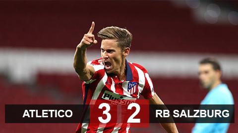 Kết quả Atletico 3-2 RB Salzburg: Joao Felix lập công lớn