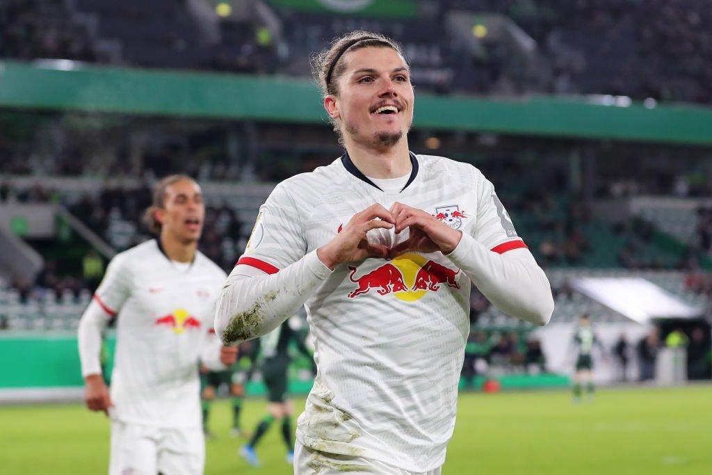 Anh đã ghi bàn cuối tuần trước để giúp RB Leipzig đứng vững trên ngôi đầu BXH Bundesliga
