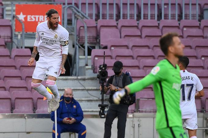 Real vẫn đang chứng tỏ sức mạnh tại La Liga với chiến thắng trước Barca trong trận El Clasico
