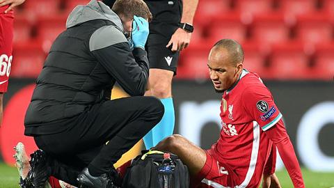Fabinho dính chấn thương gân khoeo nghiêm trọng