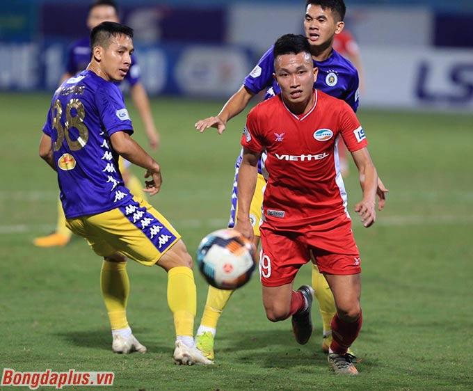 Hà Nội FC bị Viettel cầm chân với tỷ số 0-0 - Ảnh: Đức Cường