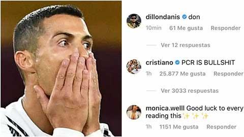 Ronaldo văng tục trên mạng xã hội vì Covid-19