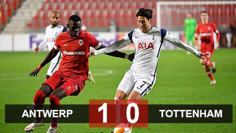 Kết quả Antwerp 1-0 Tottenham: Thua tối thiểu, Spurs để mất ngôi đầu bảng J