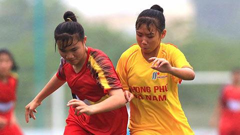 Dự tuyển quốc gia bám đuổi Phong Phú Hà Nam ở giải U16 nữ Quốc gia 2020