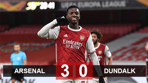 Kết quả Arsenal 3-0 Dundalk: Pháo thủ giữ vững ngôi đầu bảng B