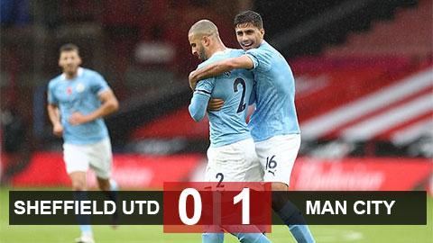 Kết quả Sheffield United 0-1 Man City: Thắng lợi toát mồ hôi