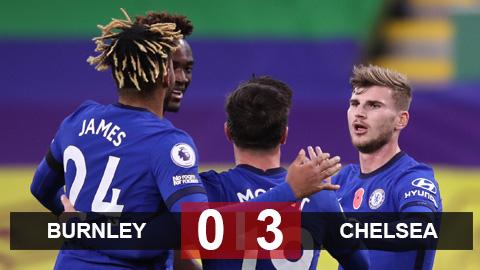 Kết quả Burnley 0-3 Chelsea: Tân binh tỏa sáng, Chelsea vùi dập Burnley để leo lên vị trí thứ 4