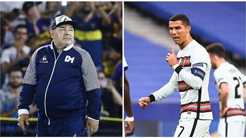 Ronaldo chúc mừng sinh nhật sặc mùi 'khiêu khích' Maradona