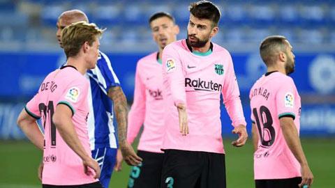Barca đang có khởi đầu tệ nhất tại La Liga sau 18 năm