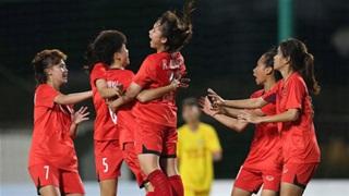 Dự tuyển U16 QG nữ đặt một tay vào chức vô địch