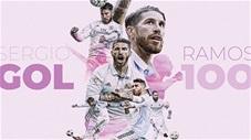 Ramos ghi bàn thắng thứ 100 cho Real: Nhiều tiền đạo còn kém xa