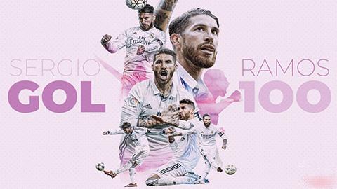 Sergio Ramos: Ngài 100 của Real Madrid
