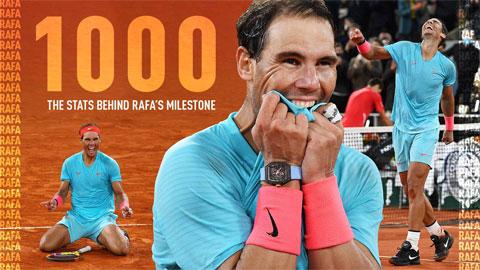 Nadal - Cột mốc 1.000 và những con số lịch sử