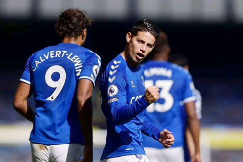 James Rodriguez đang thăng hoa với 3 bàn thắng và 3 kiến tạo tại Premier League mùa này