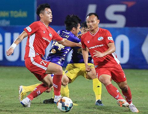 Việc cầm chân được Hà Nội ở vòng 5 giúp Viettel rộng cửa vô địch - Ảnh: Minh Tuấn