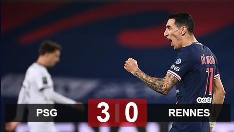 Kết quả PSG 3-0 Rennes: PSG thăng hoa dù vắng Mbappe và Neymar