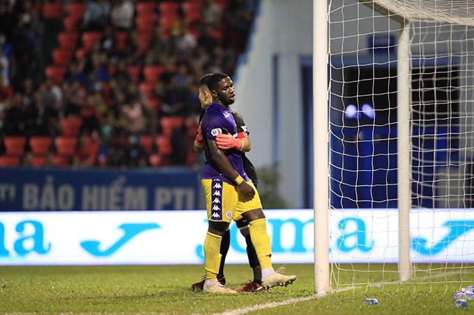 Tuy vậy, họ vẫn không thể bắt kịp Viettel, đội đã giành chiến thắng tối thiểu trước Sài Gòn FC - Ảnh Phan Tùng