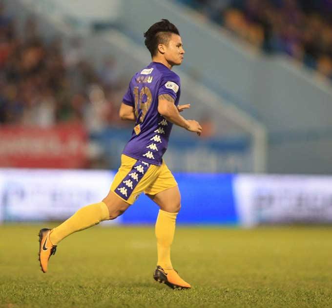 Quang Hải mở tỷ số cho Hà Nội FC - Ảnh: Minh Tuấn, Phan Tùng