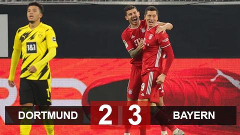 Kết quả Dortmund 2-3 Bayern: Siêu sao thi nhau tỏa sáng, Hùm xám xây chắc ngôi đầu bảng