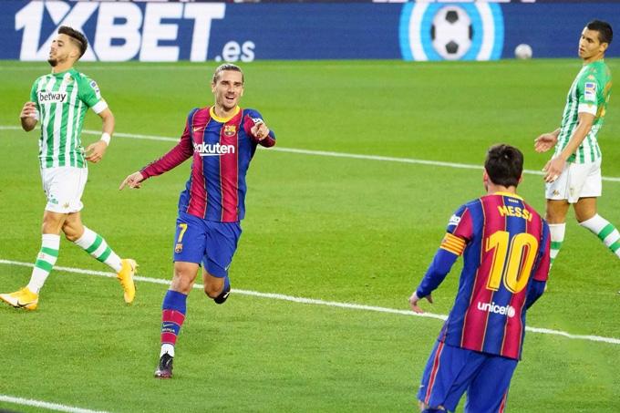 Nhưng việc Messi vào sân đã giúp Griezmann có được bàn thắng và khôi phục sự tự tin