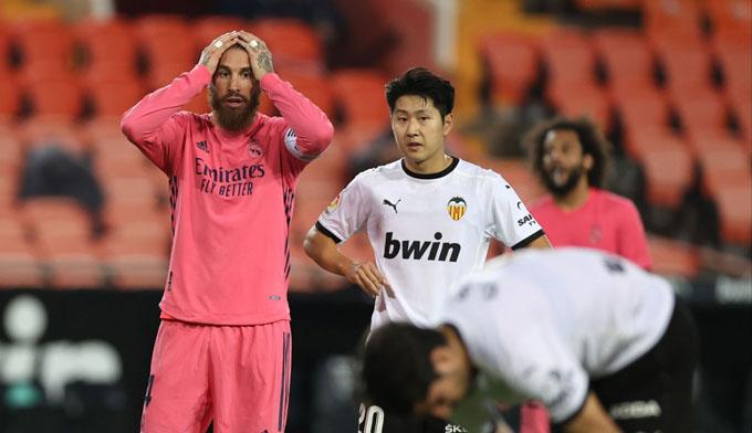 Real đã có 1 trận đấu tệ hại trên sân của Valencia