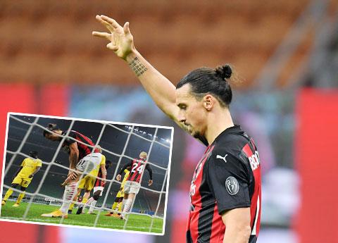 Hai hình ảnh của Ibrahimovic trong trận hòa Verona 2-2