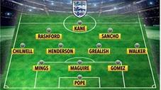 Đội hình 11 cầu thủ đạt phong độ cao nhất tại ĐT Anh hiện nay