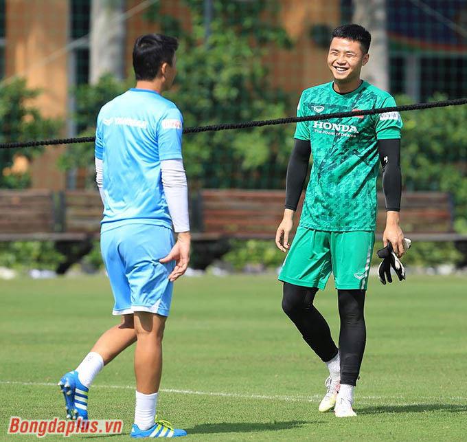 Thủ môn Văn Toản đang là đội trưởng của U22 Việt Nam đợt này