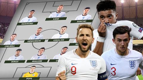 Đội hình ĐT Anh dựa theo phong độ hiện tại: Pope thay Pickford, Sancho thay Sterling