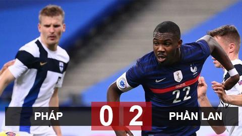 Kết quả Pháp 0-2 Phần Lan: Con trai Thuram ra mắt, Pháp lần đầu thua Phần Lan