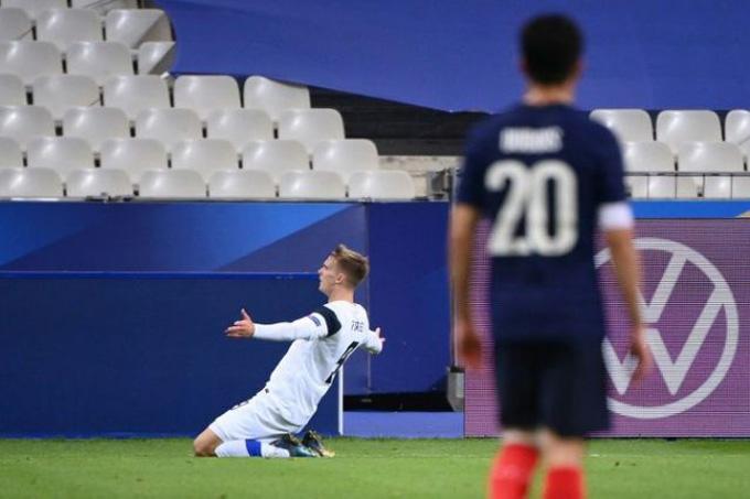 Marcus Forss mở tỷ số trận đấu ở phút 28
