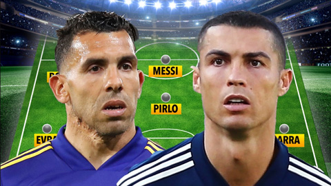 Tevez điền tên 7 cầu thủ M.U vào đội hình trong mơ