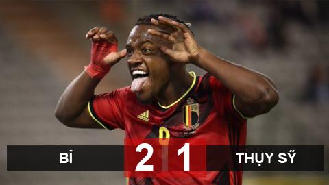Kết quả Bỉ 2-1 Thụy Sỹ: Không Hazard, Lukaku và De Bruyne, Bỉ thắng trận nhờ Batshuayi