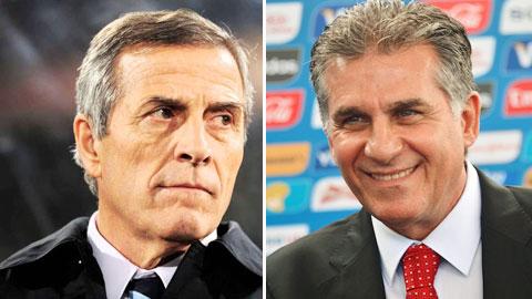 "Queiroz - Tabarez, hai ""lão đại World Cup"""