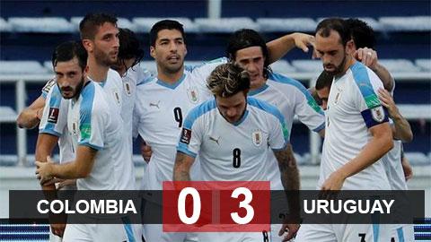 Kết quả Colombia 0-3 Uruguay: Chiến thắng dễ dàng