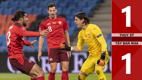 Kết quả Thụy Sỹ 1-1 Tây Ban Nha: Ramos 2 lần đá hỏng phạt đền, La Roja hút chết